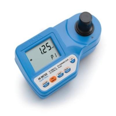 ポータブル型 デジタル残留塩素計 HI 96725 遊離塩素 LR 全塩素 LR pH シアヌル酸 日常防水 測定 計測 吸光光度計 イオン計 ハンナ カ施 代引不可