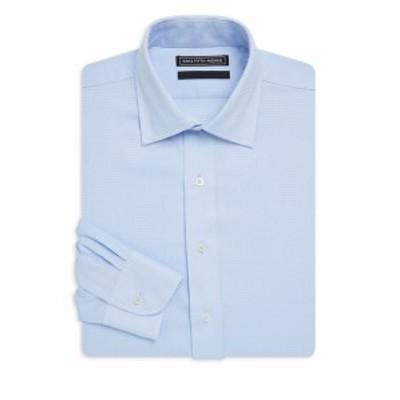 サックスフィフスアベニュー Men Clothing Textured Check Cotton Dress Shirt