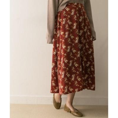 URBAN RESEARCH / アーバンリサーチ リーフフラワープリントフレアースカート
