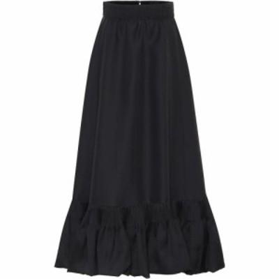 ヴァレンティノ Valentino レディース ロング・マキシ丈スカート スカート High-rise silk maxi skirt Nero