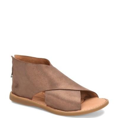 ボーン レディース サンダル シューズ Iwa Criss Cross Banded Suede Sandals Bronze