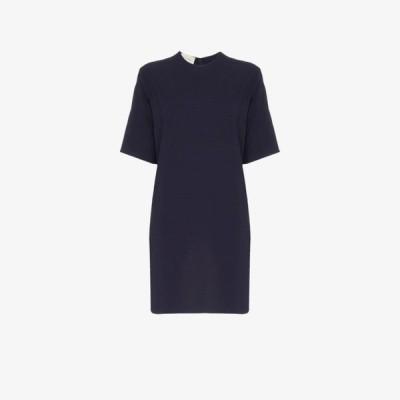 グッチ Gucci レディース ワンピース チュニックドレス ワンピース・ドレス web stripe tunic dress blue