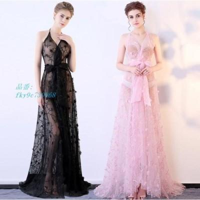 5色 披露宴 イブニングドレス Vネックワンピース ウェディングドレス ピアノ 結婚式 二次会 新作 大きいサイズ ロングドレス お呼ばれ 演奏会 パーティー