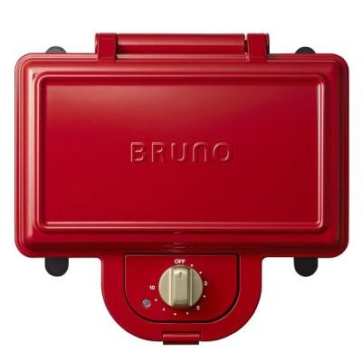 ブルーノ ホットサンドメーカー ダブル BOE044-RD レッド