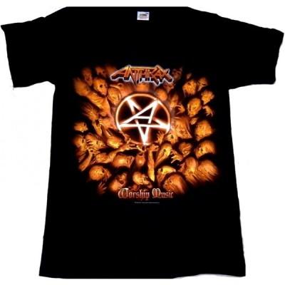ANTHRAX「WORSHIP MUSIC」Tシャツ