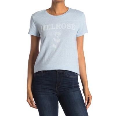 ラッキーブランド レディース Tシャツ トップス Floral Melrose Crew Short Sleeve T-Shirt POWDER BLU