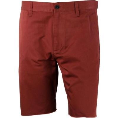ルーカ RVCA メンズ ショートパンツ ボトムス・パンツ Dayshift Cutoff Shorts - Recession Pack burgundy/red earth