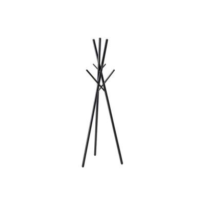 ポールハンガー 洋服掛け ハンガー ブラック 黒 衣類 かばん 小物 収納 木製 天然木 おしゃれ シンプル 北欧 ナチュラル モダン 工具不要