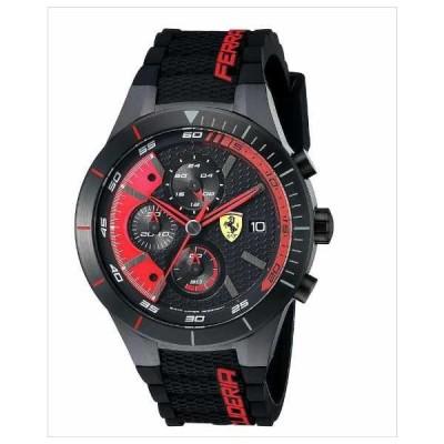 [Ferrari/フェラーリ]腕時計 赤/黒 REDREV EVO 防水 男性用 クォーツ