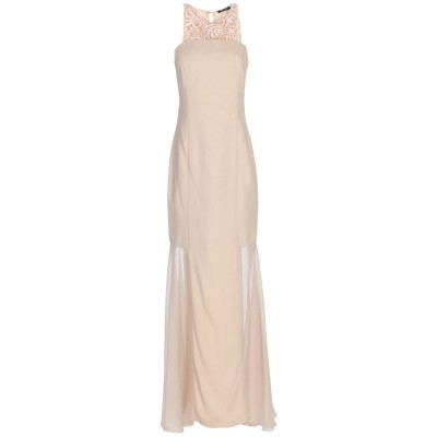 CRISTINAEFFE ロングワンピース&ドレス ベージュ 46 レーヨン 96% / ポリウレタン 4% ロングワンピース&ドレス