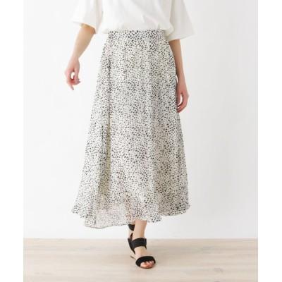 SHOO・LA・RUE / 【フリーサイズ】シフォンロング丈フレアスカート WOMEN スカート > スカート