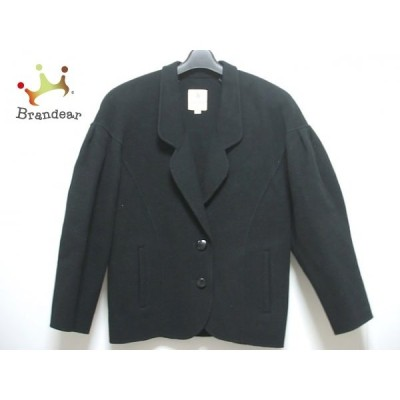 パリエンヌ PARIENNE コート サイズ9 M レディース 黒 肩パッド/冬物  スペシャル特価 20210313