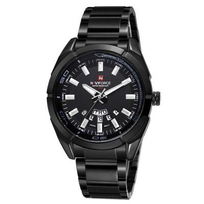 NAVIFORCEメンズスポーツウォッチ防水ミリタリークォーツカジュアルレザーデイト時計腕時計
