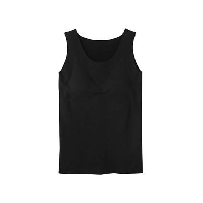<KIREILABO(Women)/キレイラボ> 完全無縫製 秋冬素材 綿混起毛 ラン型インナー(パット付) ブラック【三越伊勢丹/公式】