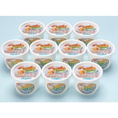 お取り寄せグルメ産地直送 函館牛乳 クリーミーなメロンシャーベット10個セット