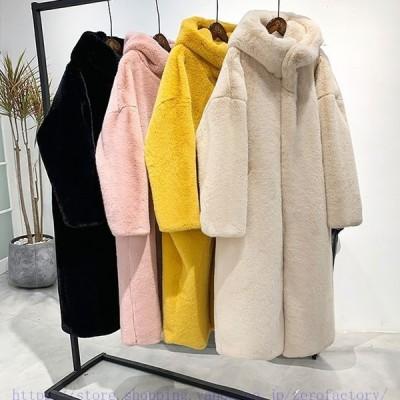 ボアブルゾン レディース パーカー ロング丈 ボジャケットフード付き 韓国風 秋冬 アウターコート もこもこ 防寒 冬 ゆったり 暖かい あったか 20代-50代