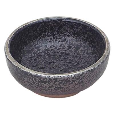 千代口 和食器 / (強)黒ちらし口銀 三つ足丸千代口 寸法: Φ7 x H2.5cm 60g