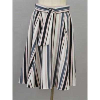 ジャスグリッティー JUSGLITTY ストライプ スカート 2サイズ ホワイト×ネイビー×ピンク レディース F-L6403