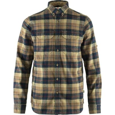 フェールラーベン Fjallraven メンズ シャツ ネルシャツ トップス Singi Heavy Flannel Shirt Dark Sand