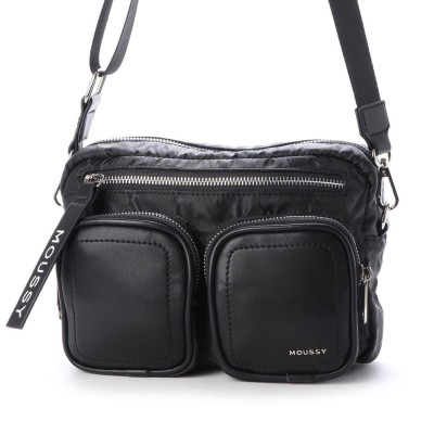 マウジー moussy NEW NYLON SHOULDER M01-1-00061 (ブラック)