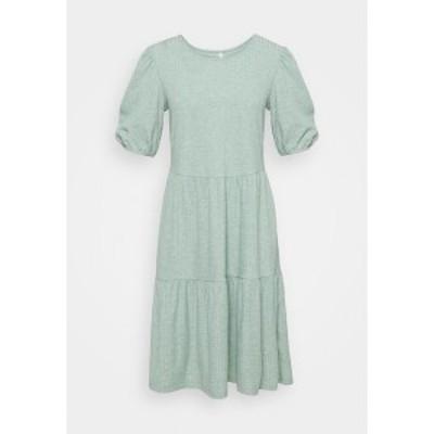 オンリー トール レディース ワンピース トップス ONLNELLA SHORT DRESS - Jumper dress - chinois green chinois green