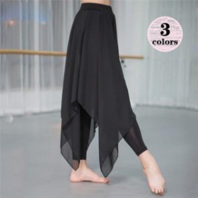 フレアスカート ロング ロングスカート パンツ付き レディース 大きいサイズ ロング ダンス スカート 83901 ハイウエスト ダンス スカー