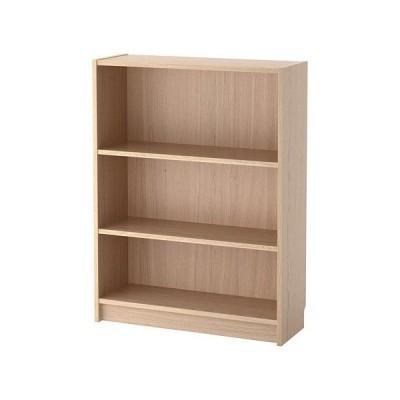 IKEA書棚BILLYホワイトステインオーク材突き板板幅80cm 送料¥750!代引き可