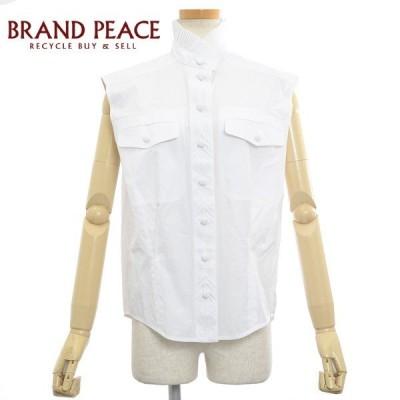 ルイ・ヴィトン ブラウス ノースリーブ 刺繍 コットン ホワイト サイズ34 ブランドピース
