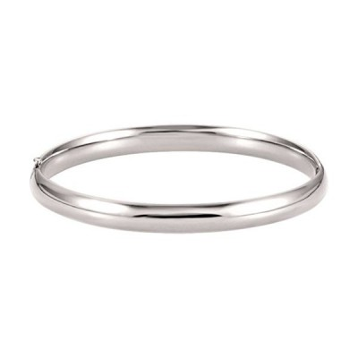 IceCarats 14K White Gold 6.5mm Hinged Bangle Bracelet並行輸入品 送料無料