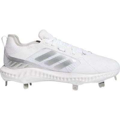 アディダス シューズ レディース 野球 adidas Women's PureHustle Metal Fastpitch Softball Cleats White/Silver