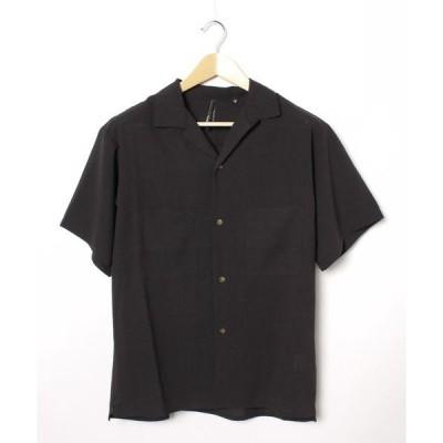 シャツ ブラウス ステッチポケットオープンシャツ