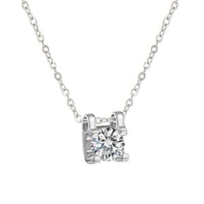 ネックレス モアッサナイト ペンダント ネックレス 18Kゴールドメッキ ダイヤモンド ペンダント シルバー925ネックレスチェーン 模造ダイ