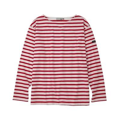 【ルコックスポルティフ】 ナガソデボーダーシャツ メンズ レッド系 M le coq sportif
