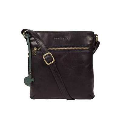 Conkca London Yayoi Women's 22cm Biodegradable Leather Cross Body Bag with Zip Over Top, 100% Cotton Lining and Adjustable Slimline Leather Strap in N