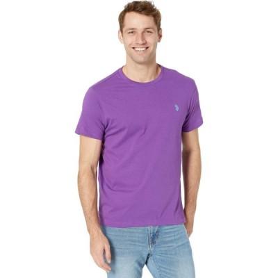 ユーエスポロアッスン U.S. POLO ASSN. メンズ Tシャツ トップス Crew Neck Small Pony T-Shirt Purple Reign