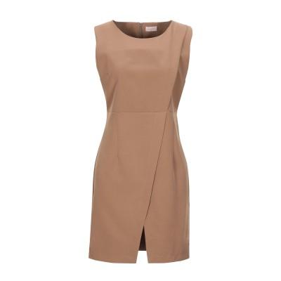 ALEX VIDAL ミニワンピース&ドレス ブラウン M ポリエステル 89% / ポリウレタン 11% ミニワンピース&ドレス