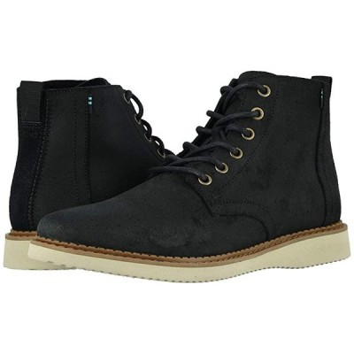 TOMS Porter Water-Resistant Boot メンズ ブーツ Black Waxy Suede
