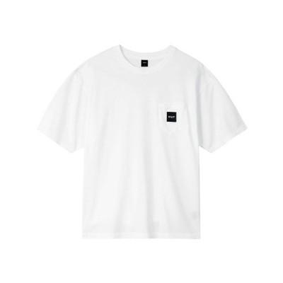 tシャツ Tシャツ BOX LOGO POCKET S/SL TEE  HUF ハフ 店舗限定