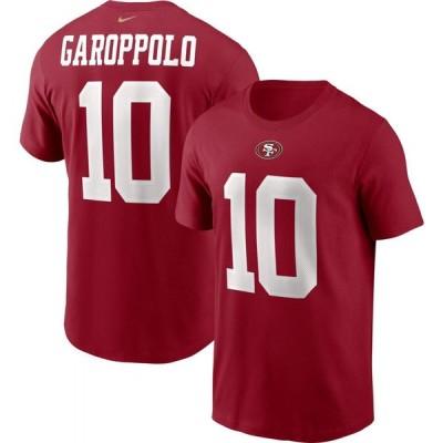 ナイキ Nike メンズ Tシャツ トップス San Francisco 49ers Legend Jimmy Garoppolo #10 Red T-Shirt