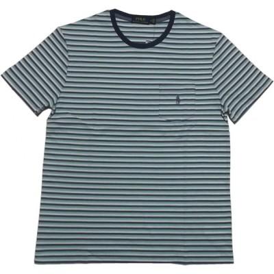 ポロ ラルフローレン 半袖 ボーダー Tシャツ ブルー メンズ Polo Ralph Lauren 656