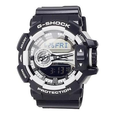 腕時計 メンズ カシオ(CASIO) Gショック(G-SHOCK) 400型 アナデジ ビッグリューズ クォーツ ブラック/ホワイト色 111QGA4001A / 当店再検品済