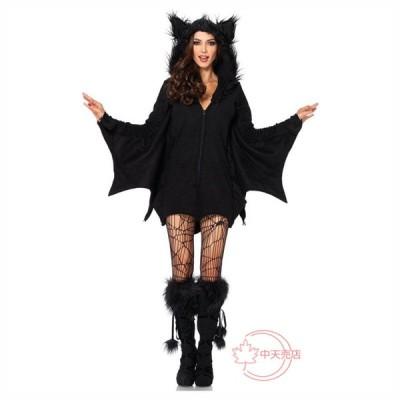 バットマン バンパイア風 コスプレ 仮装 ハロウィン 女性 大人用 大きなサイズ ホラー 黒色 悪魔 アパレル cosplay 話劇 演劇 パーティー Halloween 変装 衣装