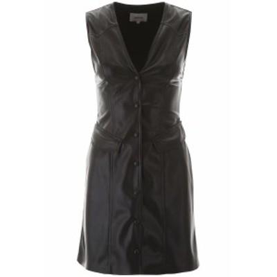 NANUSHKA/ナヌーシュカ レザーワンピース BLACK Nanushka faux leather mini dress レディース 春夏2020 MENPHI ik