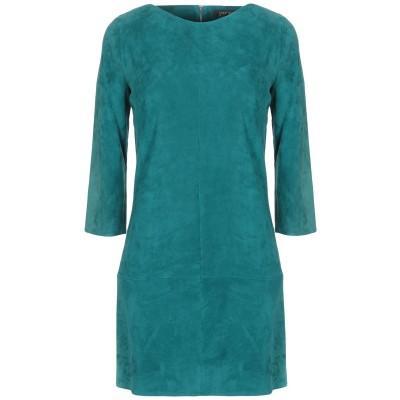 ジトロワ JITROIS ミニワンピース&ドレス エメラルドグリーン 38 羊革(ラムスキン) 100% ミニワンピース&ドレス