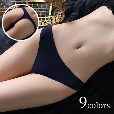 Tバック シームレスショーツ レディース パンツ パンティー 下着 無地 単品 セクシー カジュアル シンプル 通気性 婦人用 女性用 白 黒 ベージ