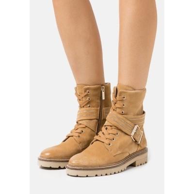 シュテフェン スクラウト ブーツ&レインブーツ レディース シューズ SLIM CHAIN ROAD - Lace-up ankle boots - sand