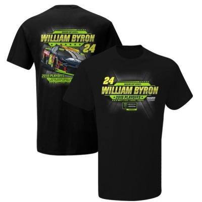 ユニセックス スポーツリーグ モータースポーツ William Byron 2019 Monster Energy NASCAR Cup Series Playoffs T-Shirt - Black