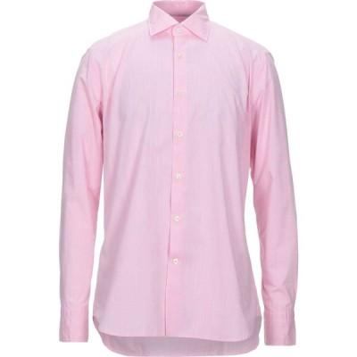 キャリバン CALIBAN 820 メンズ シャツ トップス Solid Color Shirt Pink