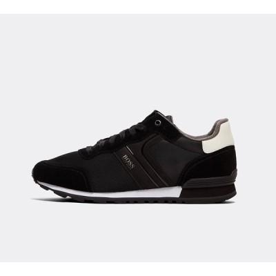 ヒューゴ ボス BOSS メンズ スニーカー シューズ・靴 parkour nylon trainer Black/White