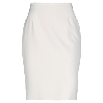 D'ALBA DUCHINI ひざ丈スカート ベージュ 42 ポリエステル 88% / ポリウレタン 12% ひざ丈スカート